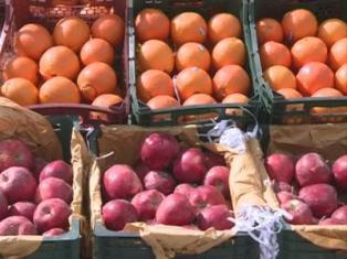 اعلام قیمت سیب و پرتقال شب عید در مازندران