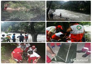 مرگ خانم ۴۰ساله بر اثر سقوط در رودخانه چالوس